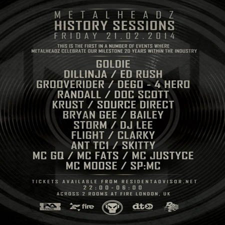 Metalheadz History Sessions 21-02-2014